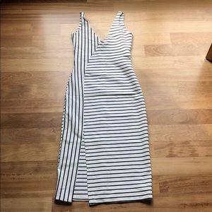 Zara Stripped Slit Dress